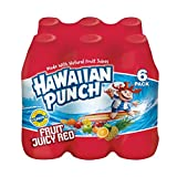 Hawaiian Punch Fruit Juicy Red, 10 Fluid Ounce Bottle, 6 Count (Pack of 4)