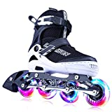 PAPAISON SPORTS Adjustable Inline Skates for Kids and Adults with Full Light Up LED Wheels, Outdoor Rollerblades for Girls and Boys, Men and Women girls inline skates Feb, 2021