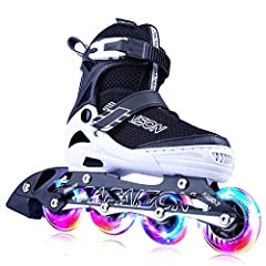 √ADJUSTABLE INLINE SKATES - (Please must confirm the size before placing the order).Our inline skates have 4 different Unisex size , S/M/L/XL, and each size is adjustable , Please make sure to choose the correct size via checking enclosed size chart ...