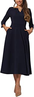 Womens Dress, M/6 Navy