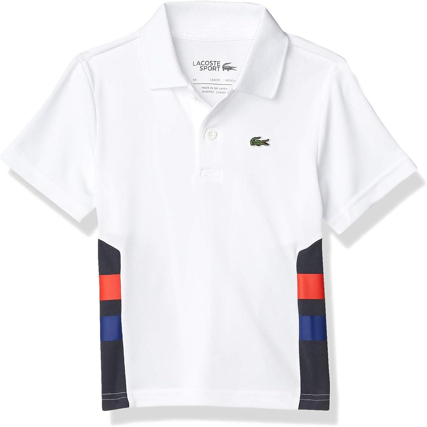 Lacoste Boys' Sport Striped Ultra Dry Polo Shirt