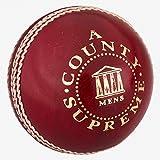 Readers County Supreme - Pelota de críquet para Hombre, 156 ml, Color Rojo