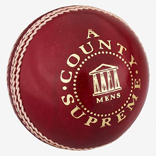 Readers County Supreme - Pelota de críquet para Hombre, 156 ml, Color Rojo ✅