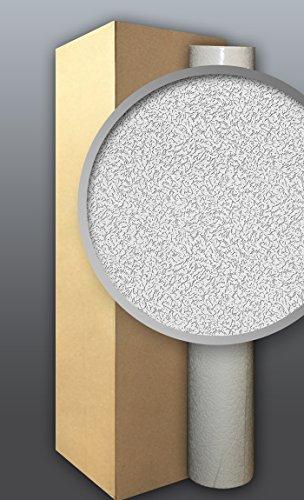 EDEM 307-70 1 Kart 4 Rollen XXL stabile überstreichbare Vlies-Tapete rauhfaser-putz weiß 106 qm
