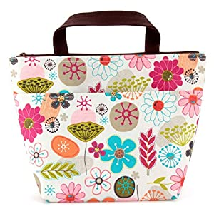 Lunch bag with flower pattern by Siz...