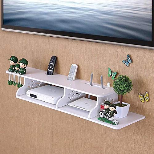 SLMY Drijvende TV rack console gratis elektrische boor ponsen muur TV kast set-top box plank wifi kat router rack muur opknoping decoratie Modern design size 7