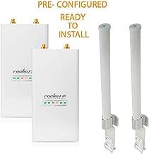 Ubiquiti RocketM5 2Pack BaseStation PtMP PRE-CONF +AMO-5G10 Antenna 2Pack 10dBi
