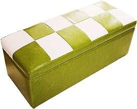 LJFYXZ Ottoman Footstool Living Room Furniture Sofa Stool PU Leather Bedroom Dressing Stool Large Capacity Storage Box Bea...