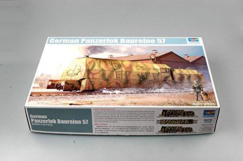 Trumpeter 00219 Modellbausatz Ger. Panzerlok BR57 Armoured Locomotive