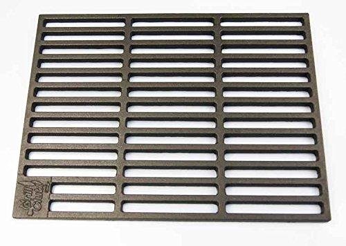 AKTIONA Gusseisen runde + eckige Grillroste viele Größen + Griffe Grillclub® Grill für Weber Gasgrill Holzkohle (41,5 x 27,5 cm)