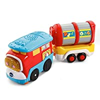 VTech Go! Go! Smart Wheels Freight Train with Tanker Car, Great Gift For Kids
