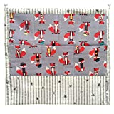 Bolsa de Cuna para Cuna Organizador Colgante Colgador de Armario con 4 Bolsillos Organizador de Accesorios 52x55CM (Zorro (rojo))