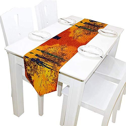 Mackinto Abstrakte Afrika Retro Vintage Style Frauen Kunstwerk Polyester Tischläufer Tischset für Hochzeitsfeier Dekoration 13 x 90 Zoll