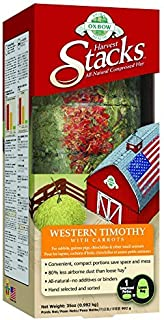 Oxbow Animal Health Harvest Stacks Western Timothy with Carrot Pet Food, 35-Ounce by Oxbow