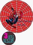 Decoración para tarta de Spider-Man personalizada sobre lámina comestible premium de glaseado redondo de 19 cm, decoración de fiesta de cumpleaños cualquier texto