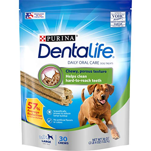 Purina DentaLife Made in USA Facilities Large Dog Dental Chews Daily  30 ct Pouch