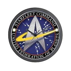 CafePress Star Fleet Command 3D Unique Decorative 10 Wall Clock