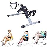 Paneltech Mini Bike Home Trainer, Allenatore Braccia e Gambe Pedal trainer Pedale della bici esercizio Pedale Exercycle con monitor LCD (Nero)