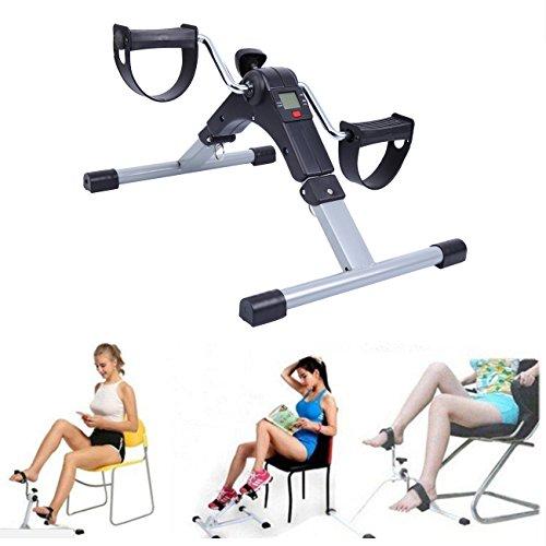 Yonntech Mini Bike Home Trainer, Allenatore Braccia e Gambe Pedal trainer Pedale della bici esercizio Pedale Exercycle con monitor LCD (Nero)