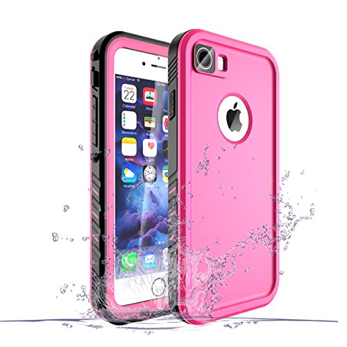 spec iphone 7 plus cases Waterproof Case for iPhone 8 Plus/iPhone 7 Plus Case, Shockproof Full-Body Rugged Case with Built-in Screen Protector for Apple iPhone 8 Plus / 7 Plus - (Pink)