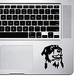 StickAny Palm Series Australian Shepherd 3 Sticker for MacBook Pro, Chromebook, and Laptops (Black)