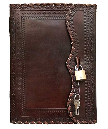 """10"""" Inch Large Brown Leather Journal 