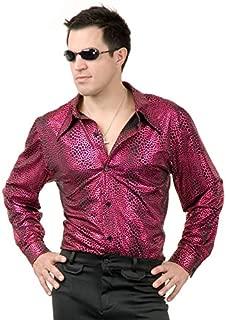 Charades Men's Snakeskin Disco Shirt