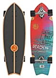 Roller Derby Slide Complete Carving Cruiser Skateboard for Street Surf - Sunset Beach Fish 32 inch