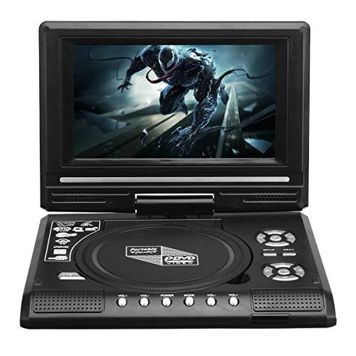 NICOLIE Juego De Programa De TV Portátil De 7.8 Pulgadas Reproductor De DVD para Automóvil con Rotación De 270 Grados