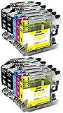 Amaprint 10 XL Cartuchos Compatible con Brother LC223 LC223xl para MFC-J480dw MFC-J680dw MFC-J880dw MFC-J4420dw MFC-J4620dw MFC-J5320dw MFC-J5620dw MFC-J5720dw DCP-J4120dw DCP-J562dw