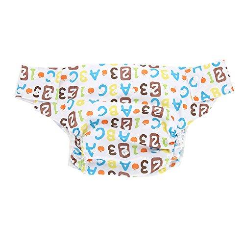 Yotown Adultos pañales de Tela, Ajustado pañal de pañal Reutilizable y Ropa Interior Protectora de Cuidado de incontinencia, pañal Ajustable Respirable del Bolsillo del pañal Adulto Lavable(3#)