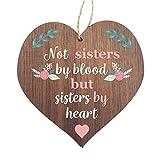 Manta Makes Sister Placa de madera colgante con corazón de la mejor amiga | Amistad y Amor