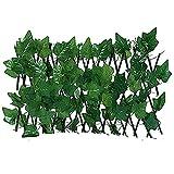 KKSTY Ausziehbarer Rankzaun, dekorativer Zaun, künstlicher Garten, Pflanzenzaun, UV-Schutz, Sichtschutz für Garten, Haus, Dekoration, grüne Wände (Süßkartoffelblätter)