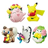 wwbfdc 5 Unids / Set Figura De Acción De Pokemon Spring Blossom Pop Pikachu Fat Dingba Butterfly Blind Box Anime Figuras Juguetes