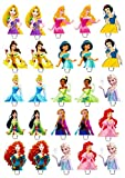 25 x Disney Princess Essbar Peper Cup Cake Stand Up Topper Bild BB