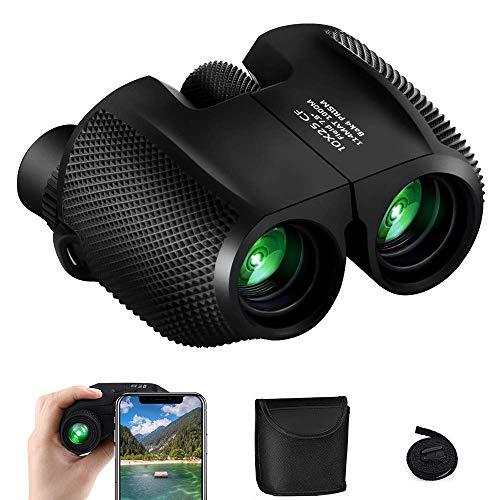 Fernglas , synmixx 10x25 Klein Kompakt Ferngläser mit Nachtsicht, Wasserdicht Feldstecher HD Mini Teleskop für Erwachsene und Kinder, Vogelbeobachtung, Wandern, Jagd, Sightseeing - mit Tragetasche
