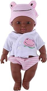 Baoblaze 30cm 12 inch Reborn Dolls Baby Doll Soft Vinyl Lifelike Newborn Baby Toy for Boys Girls Birthday Christmas Gifts(...