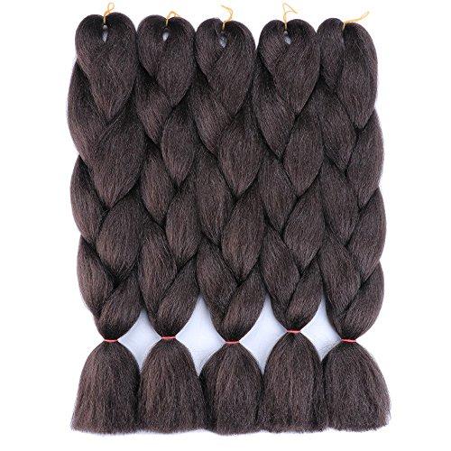 YMHPRIDE Negro 24 pulgadas Extensiones de cabello trenzado Pelo trenzado Jumbo sintético Kanekalon