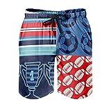 Gamoii Bañador para hombre, pantalones cortos de playa, deportes, fútbol, rugby, multicolor, con forro de malla, pantalones cortos con cordón, bolsillos blancos, 3XL