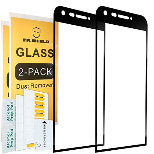 [2-Pack]-Mr.Shield for LG G5 [Tempered Glass] [Full Cover] [Black] Screen Protector with Lifetime Replacement