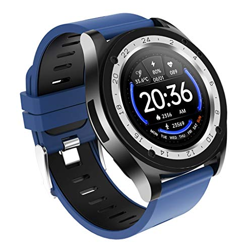 ZXQZ Relojes de Pulsera Relojes Inteligentes Rastreador de Ejercicios, 9 Modos Deportivos, Monitor de Actividad Impermeable con Pantalla Táctil de 1,54' para Hombres Y Mujeres Watches (Color : Blue)