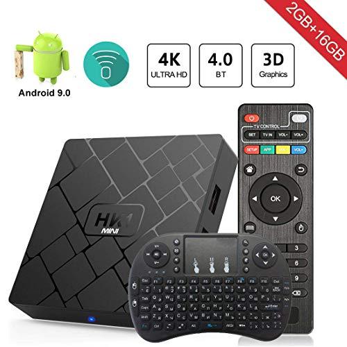 Android 9.0 TV Box Aumkoo HK1 Mini Quad core 64 Bit 2GB RAM+16GB ROM 4K Smart TV Box H.265 Decoding 2.4GHz WiFi - 2G/16G