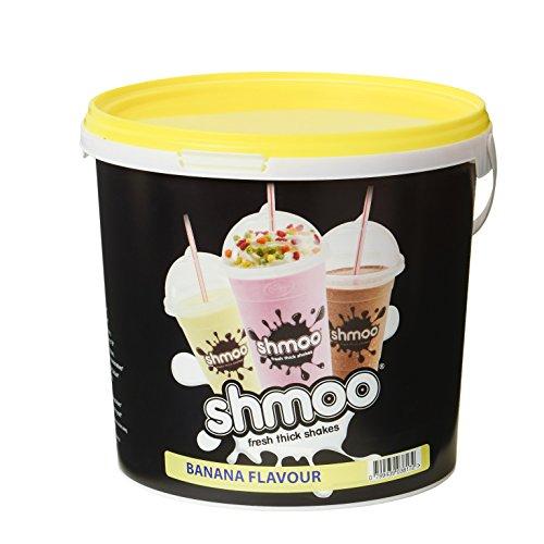Banana Shmoo Milchshake-Mix, 1,8kg Wanne mit gratis Tassen, Deckel & Strohhalme, Large Cup Pack