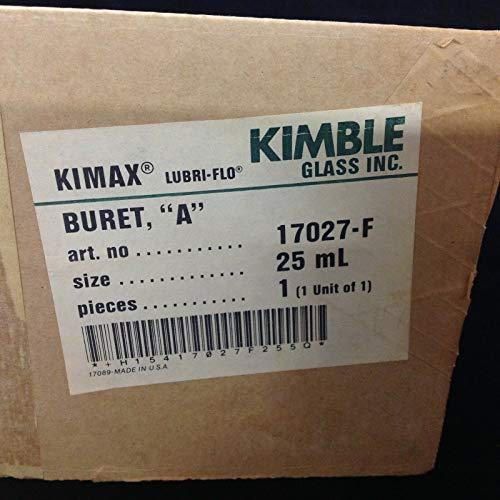 Kimble Kimax Lubri-Flo 17027-F - Copa de cristal (25 ml)