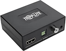 Tripp Lite 4K HDMI Audio Extractor De-embedder w/ TOSLINK, RCA & 3.5 mm Stereo Output, 7.1 Channel, HDCP 2.2, 4k @ 60Hz (P130-000-AUD4K6)