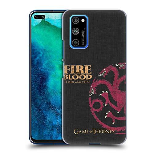 Head Case Designs Licenciado Oficialmente HBO Game of Thrones Targaryen Lemas de La Casa Carcasa rígida Compatible con Huawei Honor View 30 Pro