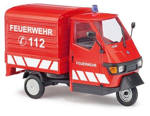 Busch Voitures - BUV60055 - Modélisme - Piaggio Ape 50 - Pompiers