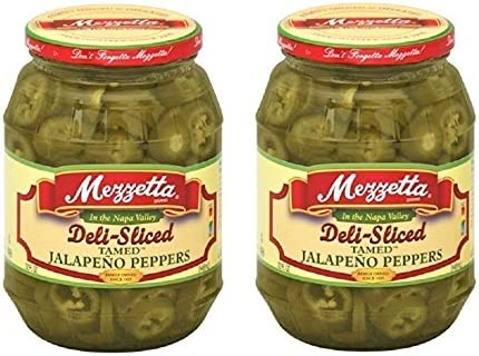 Jalapeno Peppers Deli Sliced Tamed 32 fl Oz PK of 2 Kosher Spicy By Mezzetta product image