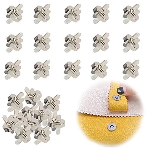 50 Pcs Botón Magnético, Cierre Magnetico Bolso, Magnético de Botón de Metal, Botones de Costura para Manualidades, Costura, Artesanía, Ropa, DIY Arte, Abrigos, Chaquetas, Jeans, Billetera(Plata)