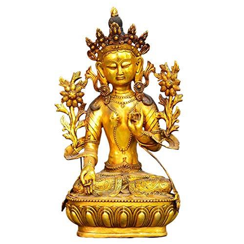 Familia Jardín Decoración Ornamento Estatua Escultura Creativa Abstracta Feng Shui Nepal Buda Estatua Tibetano Budista Tantra Thai Buda Estatua Latón Artesanía Decoración, para su sala de estar Decor